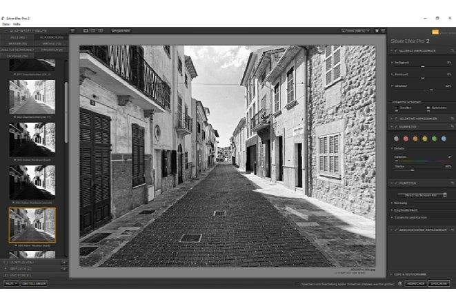 Bild Mit Silver Efex Pro 2 lassen sich Bilder differenziert monochrom-wandeln, tonen und mit Filmsimualtionen bearbeiten. [Foto: MediaNord]
