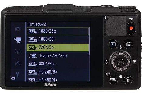 Bild Beim 7,5 Zentimeter großen Bildschirm der Nikon Coolpix S9700 handelt es sich zwar um keinen Touchscreen, er löst mit 921.000 Bildpunkten aber fein auf. [Foto: MediaNord]