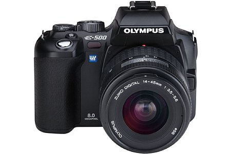 Olympus E-500 Frontansicht [Foto: Olympus Europa]