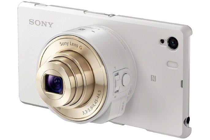 Bild Die Sony SmartShot DSC-QX10 gibt es auch in Weiß zur Kombination mit weißen Smartphones. [Foto: Sony]