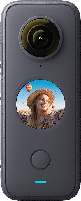 Bild Markanteste Neuerung der Insta360 One X2 ist der kreisrunde Touchscreen. [Foto: Insta360]