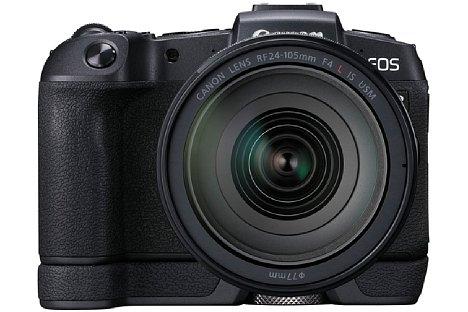 Bild Die Grifferweiterung EG-E1 sorgt für einen besseren Halt der Canon EOS RP in größeren Händen. [Foto: Canon]