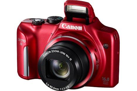 Bild Neben Schwarz wird die Canon PowerShot SX170 IS auch in Rot angeboten. [Foto: Canon]
