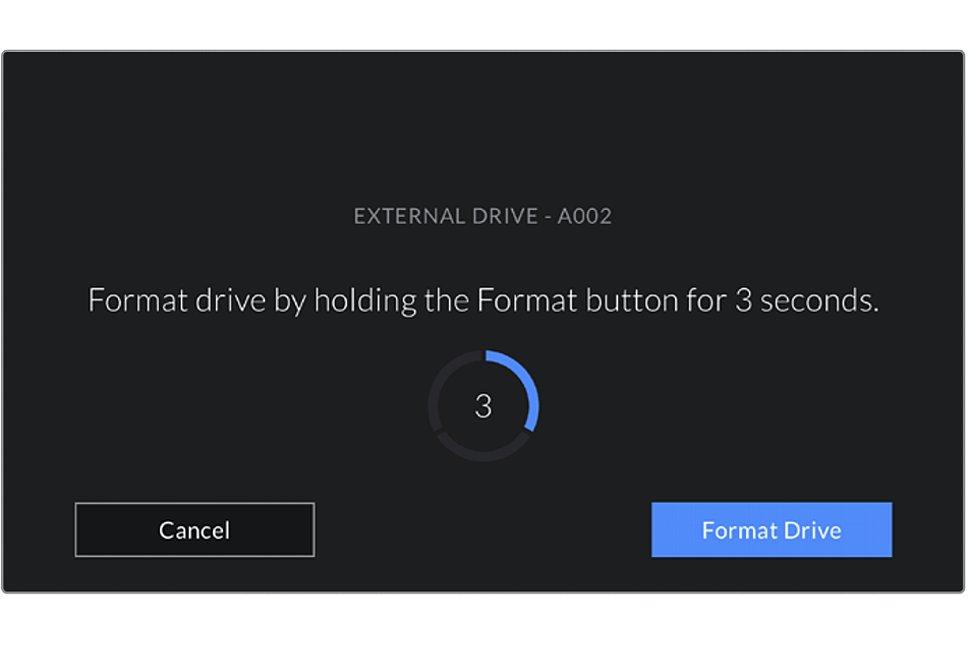Bild Auf dem großen Bildschirm der Blackmagic Pocket Cinema Camera 4K werden alle Bedienschritte klar und deutlich angezeigt. Die Menüführung ist konsequent auf Touchscreen-Bedienung ausgelegt. [Foto: Blackmagic]