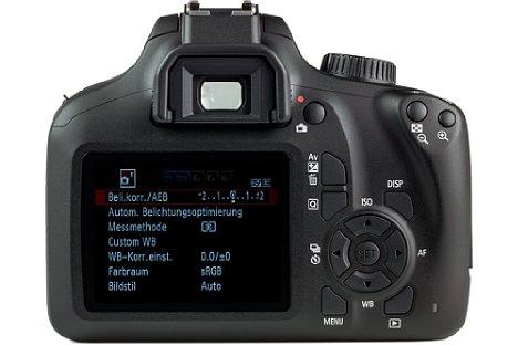 """Bild Der 2,7"""" Monitor auf der Rückseite ist unbeweglich und besitzt keine Touchfunktion. [Foto: MediaNord]"""