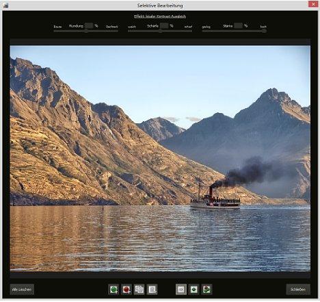 Bild In der selektiven Bearbeitung können Bildteile von dem Effekt ausgenommen oder eingeschlossen werden. [Foto: MediaNord]