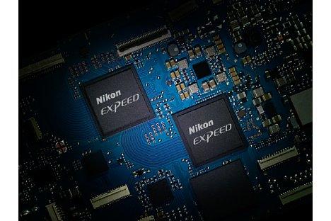 Bild Für eine höhere Rechenleistung kommt bei der Nikon Z 6II und Z 7II einfach ein Dual Bildprozessor bestehend aus zwei Expeed 6 zum Einsatz. [Foto: Nikon]
