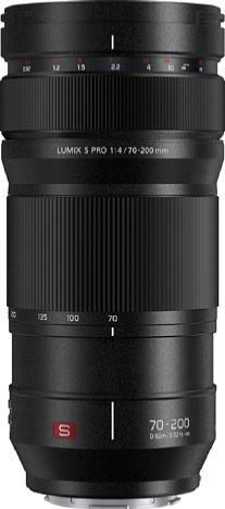 Bild Zieht man den Fokusring des Panasonic Lumix S Pro 70-200 mm 1:4.0 O.I.S. nach hinten, erscheint eine Schärfeskala und der Einstellweg ist entsprechend begrenzt. So lässt sich auch gut manuell auf eine bestimmte Entfernung fokussieren. [Foto: Panasonic]