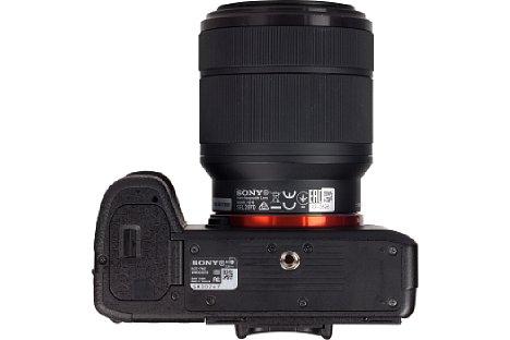 Bild Das Stativgewinde sitzt bei der Sony Alpha 7 II korrekt in der optischen Achse. [Foto: MediaNord]