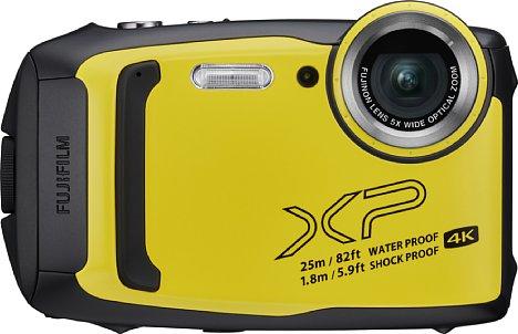 Bild Ab März 2019 soll die Fujifilm FinePix XP140 für knapp 200 Euro erhältlich sein. In Deutschland sollen nur die Farben Eisblau und Geld erhältlich sein. [Foto: Fujifilm]
