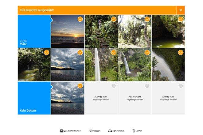 Bild Mit einem Klick auf die Bilder oder Videos können diese markiert und Alben zugeordnet werden. [Foto: Medianord]
