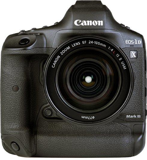 Bild Sogar auf der Vorderseite der Canon EOS-1D X Mark III sind Tasten zu finden. Gut zu sehen ist hier nur eine von vier, die sich alle in Bajonettnähe in Reichweite des Mittel- und Ringfingers befinden. [Foto: MediaNord]