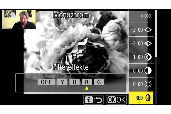 """Bild Manuel Quarta im Schulungs-Videos """"Nikon Z-System im Detail"""", Kapitel """"PictureControl Einstellungen"""". [Foto: MediaNord]"""