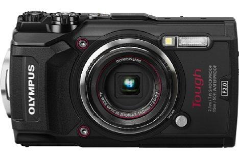 Bild Man könnte bei den beiden Kameras (hier die TG-5) auch von eineiigen Zwillingen sprechen. [Foto: Olympus]