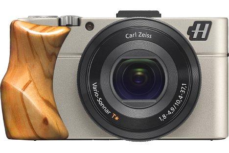 Bild Die kürzlich vorgestellte Hasselblad Stellar II basiert auf der Sony RX100 II und wird mit vier Griffen wahlweise in Olivenholz, ... [Foto: Hasselblad]