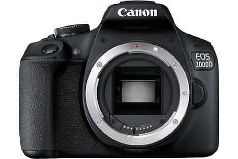 Bild Bei der Canon EOS 2000D kommt hingegen ein robusteres Metallbajonett zum Einsatz, auch der Bildsensor löst mit 24 Megapixeln sowohl höher auf als bei der 4000D als auch beim Vorgängermodell 1300D, die beide mit 18 Megapixeln auskommen müssen. [Foto: Canon]