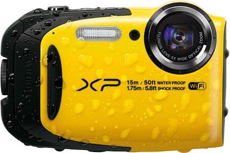 Bild Die Fujifilm FinePix XP80 gibt es außer in der Farbe Gelb noch in Blau oder Schwarz zu kaufen. [Foto: Fujifilm]