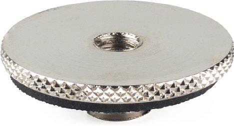 Bild Die Unterseite des Manfrotto MA 088LBP Gewindeadapters ist einfach eine Plane Fläche mit 30 mm Durchmesser. [Foto: MediaNord]