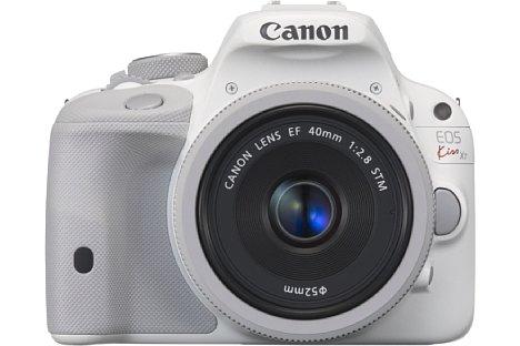 Bild Damals sah Canon hierzulande noch keine Absatzchancen für farbige DSLRs wie die weiße EOS 100D.  [Foto: Canon]