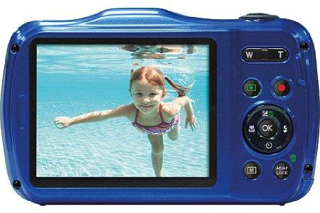 """Bild Über den 2,7""""-Bildschirm lässt sich das Bild kontrollieren. 28 Motivprogramme stellt die Rollei Sportsline 100 für Aufnahmen zur Verfügung. [Foto: Rollei]"""