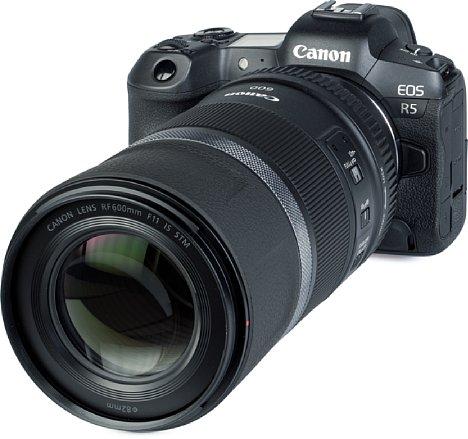 Bild Die Blende des Canon RF 600 mm F11 IS STM lässt sich nicht verstellen. [Foto: MediaNord]