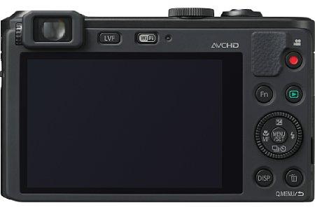 Bild Als einzige Kamera ihrer Art bietet die Lumix LF1 einen elektronischen Sucher. [Foto: Panasonic]