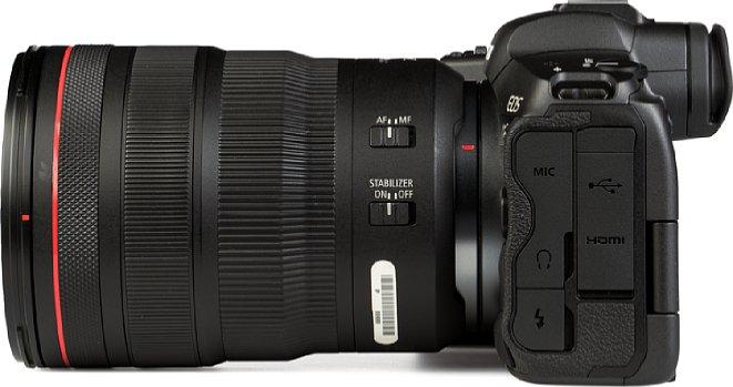 Bild Das CanonRF 24-70mm F2.8L IS USM bietet nicht nur drei Einstellringe (Steuerring, Fokusring und Zoomring), sondern auch zwei Schalter (Fokus und Bildstabilisator) sowie einen Zoom-Lock-Schalter (hier nicht zu sehen). [Foto: MediaNord]