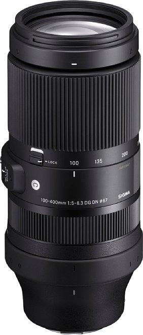 Bild Das Sigma 100-400 mm F5-6.3 DG DN OS Contemporary ist bei geringster Brennweite schon gute 20 Zentimeter lang. [Foto: Sigma]