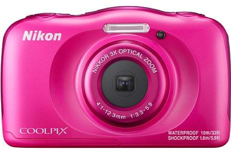 Bild Auch Fans von grellem Pink kommen bei der Nikon Coolpix W100 auf ihre Kosten. [Foto: Nikon]