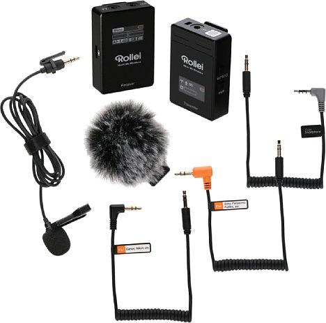 Bild Rollei Hear:Me Wireless - Lieferumfang. [Foto: Rollei]