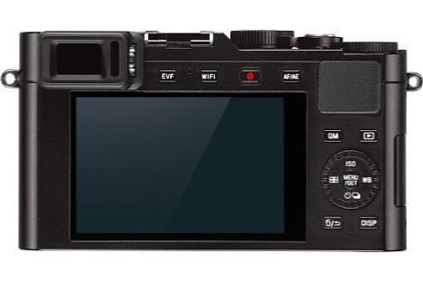 """Bild Auf der Rückseite besitzt die Leica D-Lux (Typ 109) einen 2,8 Millionen Bildpunkte auflösenden, im Vergleich zu Kleinbild 0,7-fach vergrößernden elektronischen Sucher sowie einen 921.000 Bildpunkte auflösenden 3""""-Bildschirm. [Foto: Leica]"""