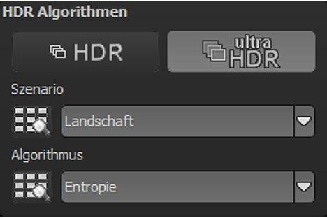 Bild Die Einstellunsgmöglichkeiten für den Ultra-HDR-Modus in HDR Projects 4 Professional. [Foto: MediaNord]
