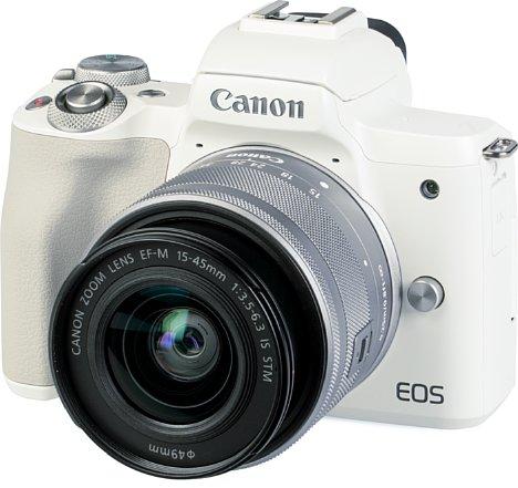 Bild Die Canon EOS M50 Mark II ist auch mit weißem Gehäuse und silbernem Set-Objektiv erhältlich. [Foto: MediaNord]