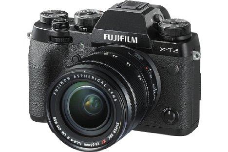 Bild Die Fujifilm X-T2 bietet den neuen 24-Megapixel-Sensor, der bereits aus der X-Pro2 bekannt ist. Im Gegensatz zur X-Pro2 nimmt die X-T2 aber auch 4K-Videos auf. [Foto: Fujifilm]