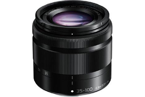 Bild Das schwarze Panasonic Lumix G Vario 35-100 mm 4-5.6 Asph. O.I.S. machte im Test einen gut verarbeiteten Eindruck. [Foto: Panasonic]