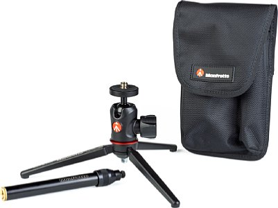 Manfrotto 209,492LONG-1 Tabletop Stativ-Kit mit MH492-BH Kugelkopf. [Foto: MediaNord]