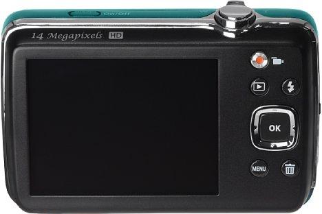 Bild Der rückwärtige Bildschirm der Pentax Efina misst lediglich 2,5 Zoll (6,3 Zentimeter) in der Diagonale. [Foto: Pentax]