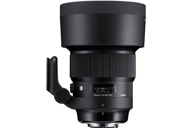 Bild Die Streulichtblende ist Teil des Lieferumfangs des Sigma 105 mm F1.4 DG HSM Art. [Foto: Sigma]