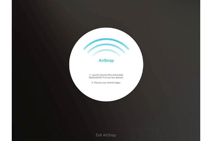 Bild Die Camera Plus Airsnap-Funktion erlaubt die Fernsteuerung eines iOS-Gerätes durch ein zweites iOS-Gerät. [Foto: MediaNord]