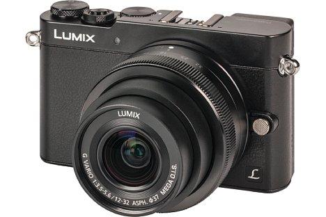 Bild Die Panasonic Lumix DMC-GM5 ist ausgestattet mit dem Objektiv Lumix G Vario 12-32/1:3.5-5.6 Asph Mega O.I.S.nicht größer als eine Edel-Kompaktkamera. [Foto: MediaNord]