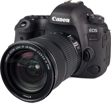 Bild Das Gehäuse der Canon EOS 6D Mark II besteht lediglich aus Kunststoff, ist aber gegen Staub und Spritzwasser abgedichtet. [Foto: MediaNord]
