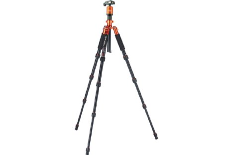 Bild Die maximale Arbeitshöhe des Compact Traveler No. 1 beträgt 138 cm. [Foto: Rollei]