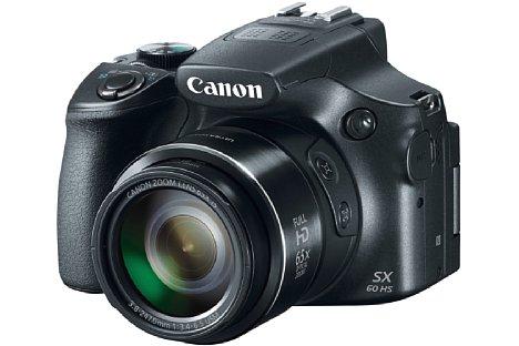 Bild Die Canon PowerShot SX60 HS besitzt ein unglaubliches 65-fach-Zoom von 21-1.365 Millimeter entsprechend Kleinbild. Ein Bildstabilisator ist dabei selbstverständlich obligatorisch. [Foto: Canon]