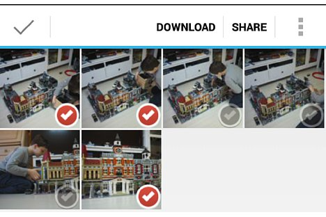 Bild Mit Hilfe der Toshiba FlashAir App lassen sich auch mehrere Bilder zusammen übertragen. [Foto: MediaNord]