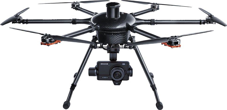 Bild Der leistungsfähige Hexakopter Yuneec Tornado H920 und die Yuneec CGO4 Micro-Four-Thirds-Kamera sind ein Dreamteam für professionelle Luftaufnahmen. [Foto: Yuneec]