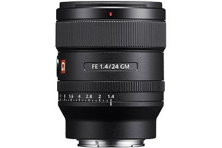 Bild Das Sony FE 24 mm F1.4 GM (SEL24F14GM) bietet einen klassischen Blendenring mit Drittelstufenrastung. Wer möchte, kann die Blende aber auch gewohnt an der Kamera verstellen. [Foto: Sony]
