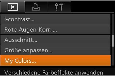 Bild Im Wiedergabemenü der Canon PowerShot G7 X lassen sich einige Bildkorrekturen, etwa der Kontraste oder Farben, vornehmen. [Foto: MediaNord]