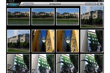 Bild Auf dem Startbildschirm wählen Sie das zu bearbeitende Foto aus der Bibliothek des iPads aus. Mit einem Fingerzeig auf das Bild wird es geöffnet. [Foto: Ralf Spoerer]