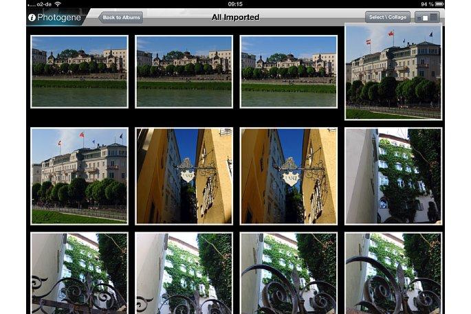 Bild Auf dem Startbildschirm wählst du das zu bearbeitende Foto aus der Bibliothek des iPads aus. Mit einem Fingerzeig auf das Bild wird es geöffnet. [Foto: Ralf Spoerer]