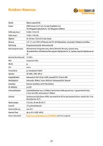 Bild Ein übersichtliches Kurzdatenblatt fasst alle wichtigen Ausstattungsmerkmale zusammen. Ein Hyperlink führt direkt ins Online-Datenblatt auf digitalkamera.de mit noch mehr Daten und aktuellem Preisvergleich. [Foto: MediaNord]